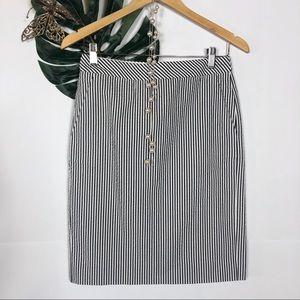 J. Crew striped pencil skirt